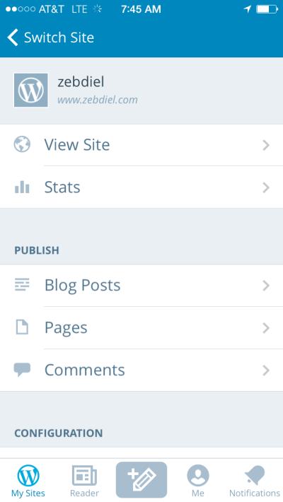 WordPress SmartPhone App & Publishing