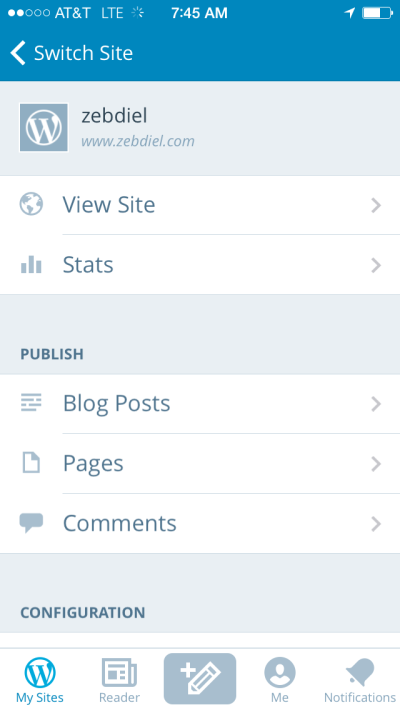 WordPress SmartPhone App & Publishing