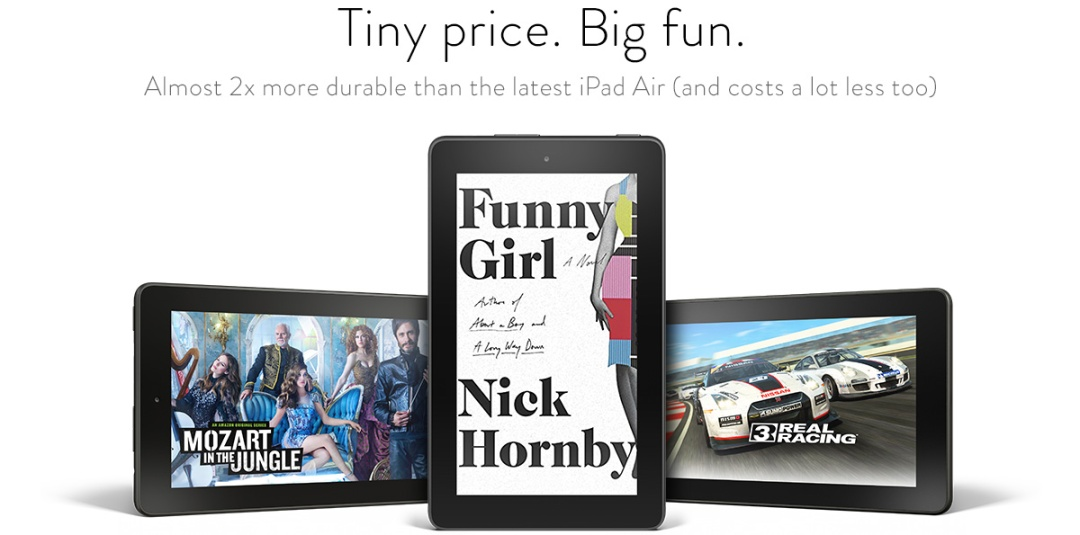 Kindle Fire or iPad Air, a Blue Light Special for business?