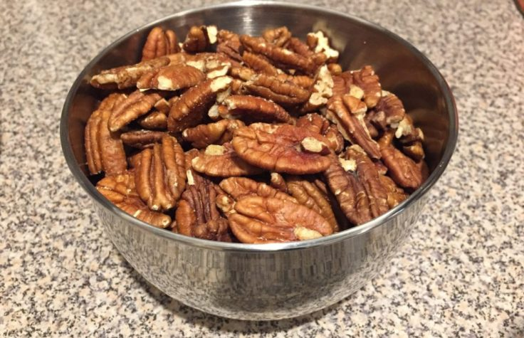 Pecans for a Thanksgiving sweet potato casserole recipe