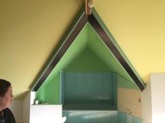 Top floor odd bathroom in bedrooms