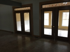 DOUBLE DOORS TO SUN ROOM