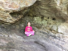 A little rest on the way up to the Hanging Rock