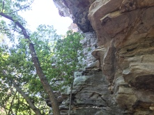 Side of the Hanging Rock Mountain