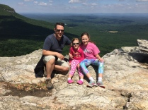 Hanging Rock State Park North Carolina My Girls on the windy Mountain Top we made it!
