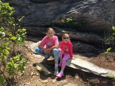 Hanging Rock State Park North Carolina My Girls on the windy Mountain Top
