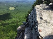 Overlooking the valley floor from the Hanging Rock
