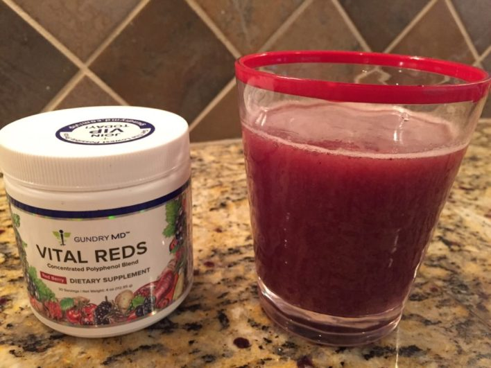 Gundry MD Vital Reds Review (energy booster) mixed in glass