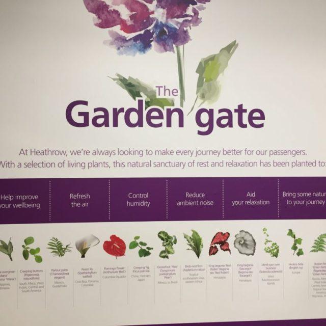 Heathrow Garden Gate iPhone Pictures