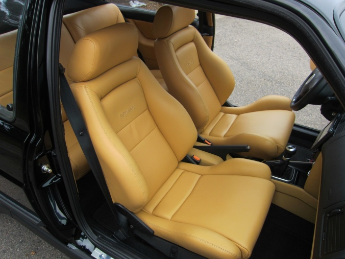 MK2 GTi Black Custom Tan leather Recarros