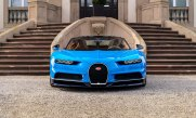 Close up of front end of a Bugatti Chiron