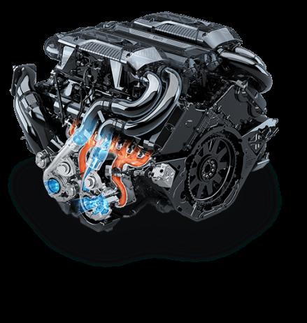 Bugatti Chiron 16 cylinder motor quad (4) turbo