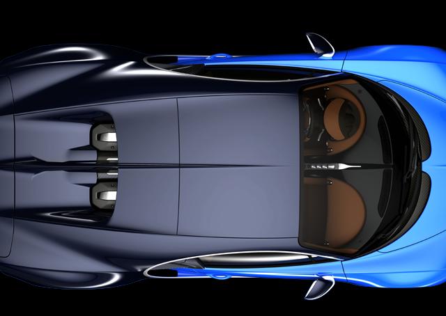Blue Bugatti Chiron