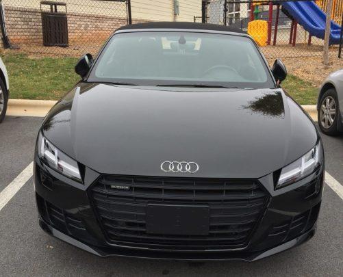 2017 Black Audi TT convertable